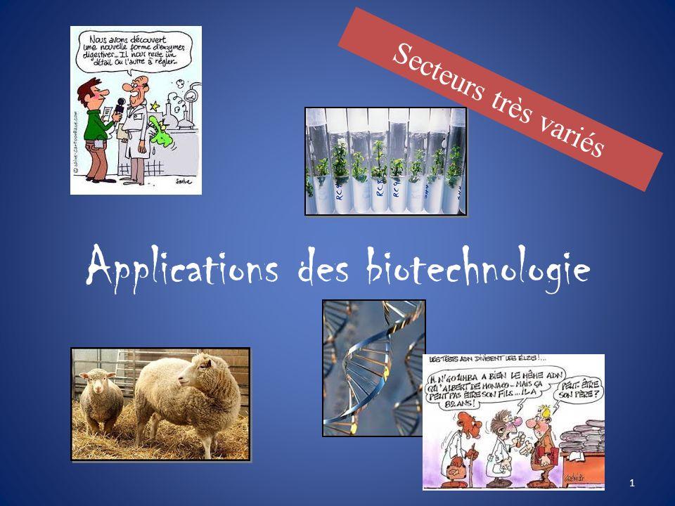 Biotechnologie et applications 2